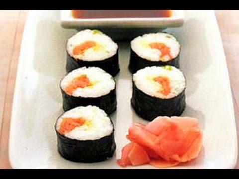 Resep Masakan Smoked Sushi Salmon Roll Asap Youtube