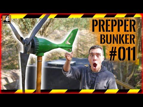 PREPPER BUNKER #011 | STROM & Licht durch WINDRAD | AUTARKE Windkraftanlage | Survival Mattin