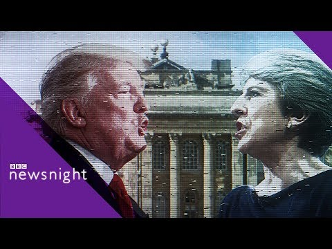 'Trump clearly doesn't respect Theresa May' - BBC Newsnight