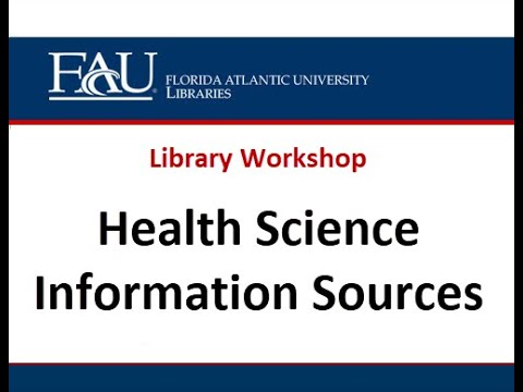 Health Science Information Sources