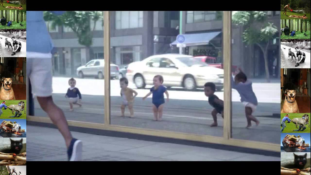 Bebes bailando en el espejo hd youtube for Espejo reposacabezas bebe