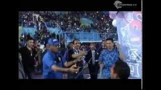 Tumpengan Aremania Bersama Rendra Di Stadion Kanjuruahan Memperingati Ulang Tahun Arema Ke 28