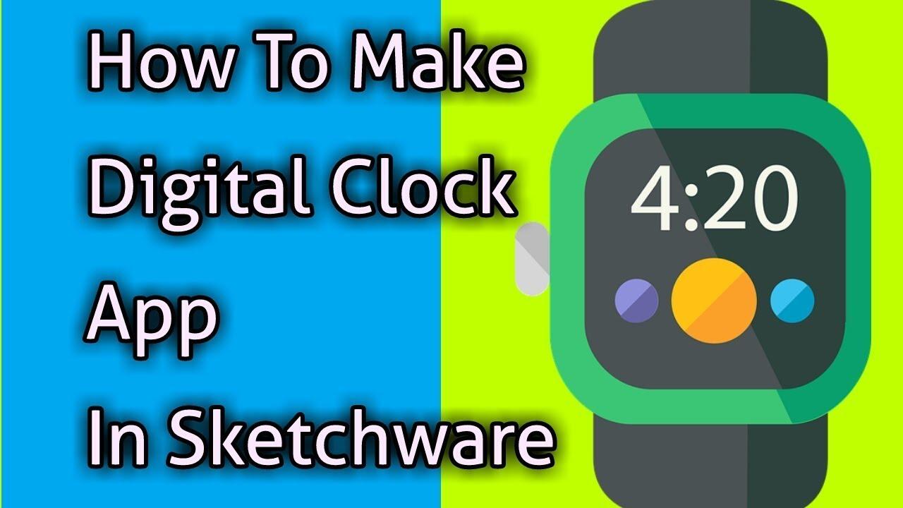 how to make a digital clock