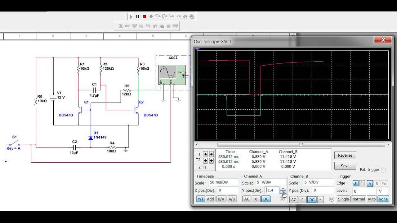 Monostable Multivibrator Circuit Youtube 555 Internal Diagram