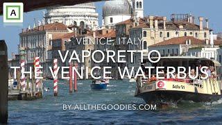 Venice Vaporetto - the Waterbus - the easiest way to get around, Venice   allthegoodies.com