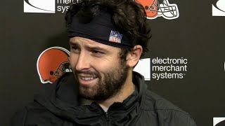 Baker Mayfield storms off during weekly press conference