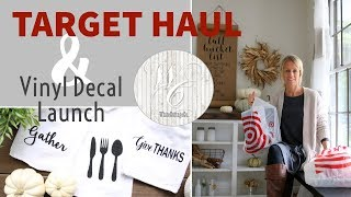 Target Haul and Vinyl Decal Launch