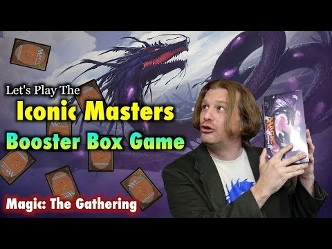 MTG - Let's Play The Iconic Masters Booster Box Game! Opening Magic: The Gathering Cards!