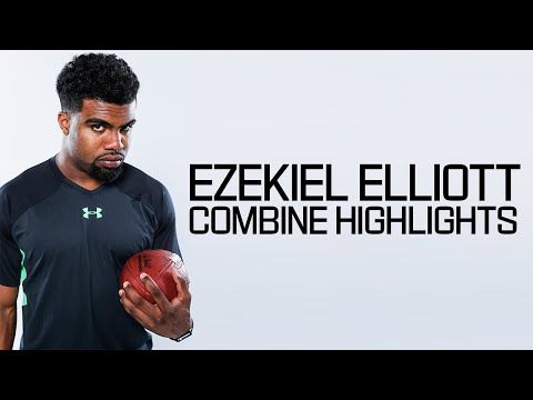 Thumbnail: Ezekiel Elliott (Ohio State, RB) | 2016 NFL Combine Highlights