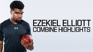 Repeat youtube video Ezekiel Elliott (Ohio State, RB) | 2016 NFL Combine Highlights
