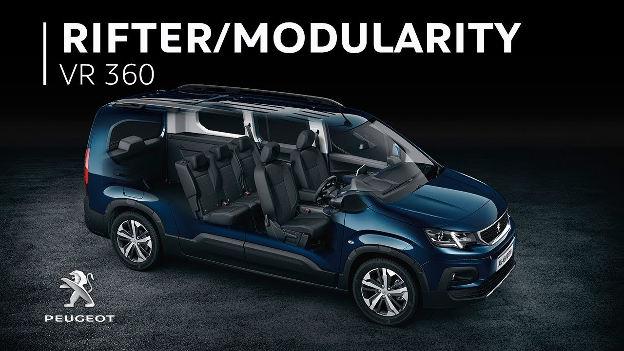 peugeot rifter- 360 vr video: 7-seat modularity - youtube