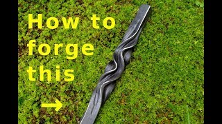 How to forge wavy twist decor.