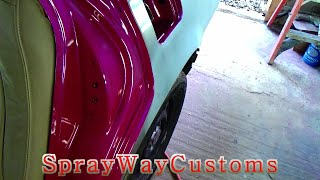How To Paint Door Jambs / Outrageous Paint On 2001 Cadillac Deville - Part 1