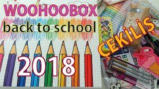 """WOOHOOBOX'IN, EN PAHALI """"OKULA DÖNÜŞ"""" KUTUSUNU AÇTIM! - ÇEKİLİŞ! - Back To School Box"""
