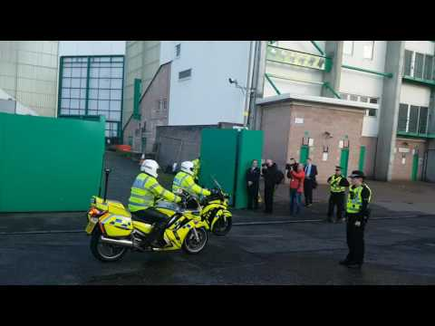Scottish cup arriving at Easter Road