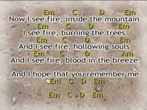 Ed Sheeran - I see Fire Lyrics & Chords