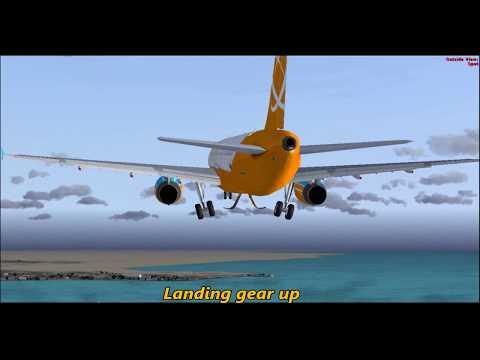 FSX Flight [ Doha to Bahrain ] Realistic Flight Simulator!!!