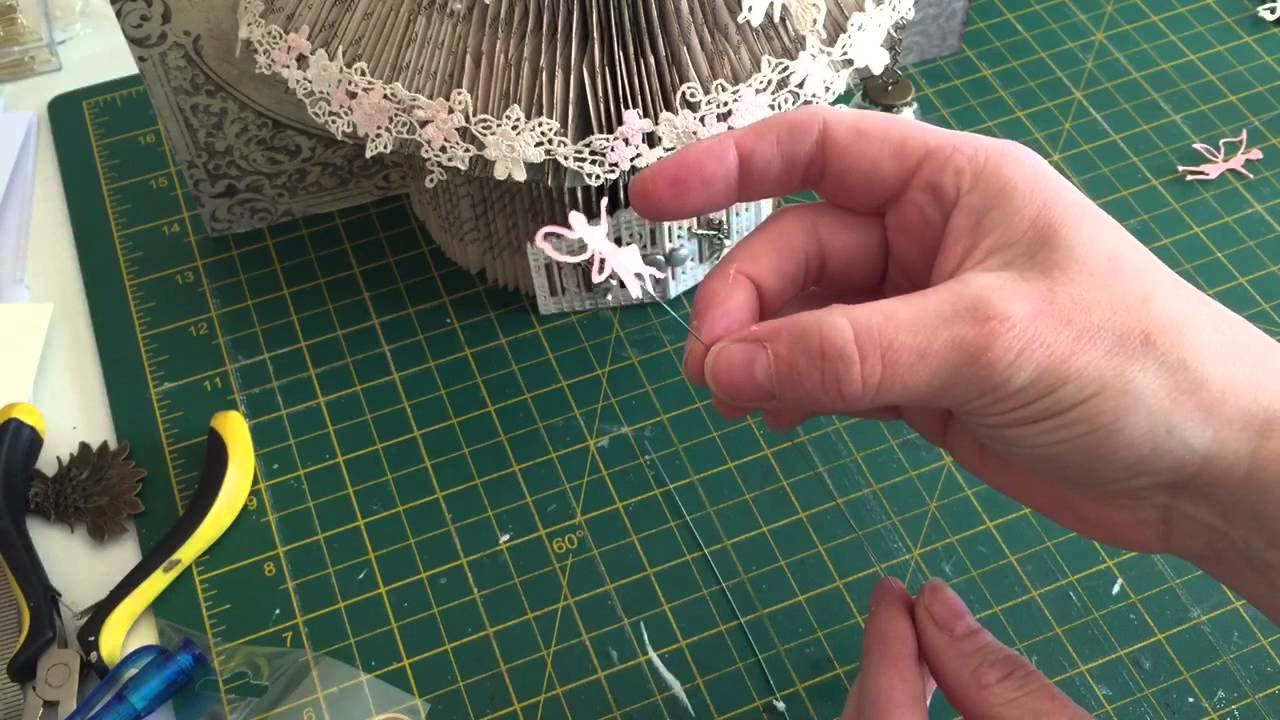 Book Folded Fairy House Decorating Idea