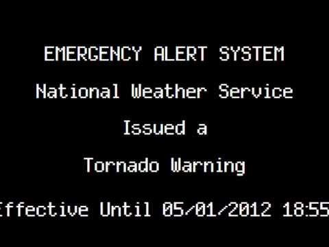 Tornado Warning: Durham, NC (5/1/12)