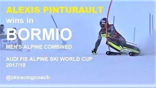 ALEXIS PINTURAULT wins BORMIO men's ALPINE COMBINED Audi Ski World Cup 2017 2018