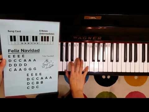 How to play Feliz Navidad on the Piano