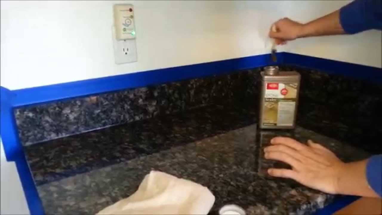 Diy How To Put Dupont Or Any Brand Sealer On Granite Counter Tops