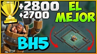 EL MEJOR DISEÑO DE BH5 para llegar a las 2800 COPAS Taller de Constructor 5 Clash of Clans