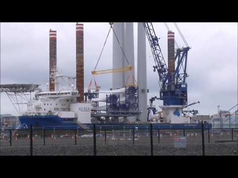 Sea Installer Wind Turbine Ship,  Belfast docks