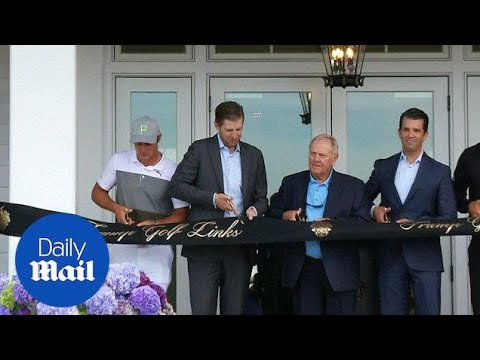 Trump brothers open new clubhouse at New York City golf course - Daily Mail