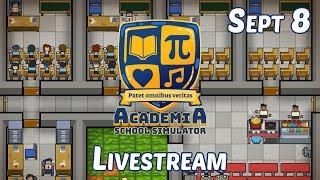Academia: School Simulator/Cook, Serve, Delicious! 2!! LIVESTREAM | Let's Play Academia and CSD2