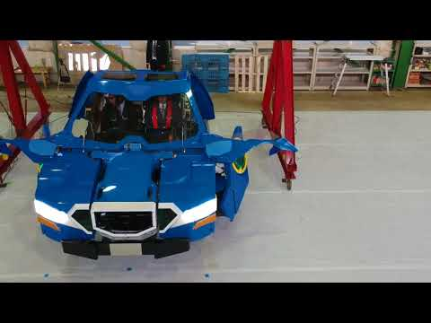 J-deite RIDE transforming from humanoid robot to vehicle