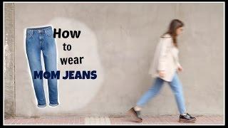 how to wear mom jeans   winter lookbook