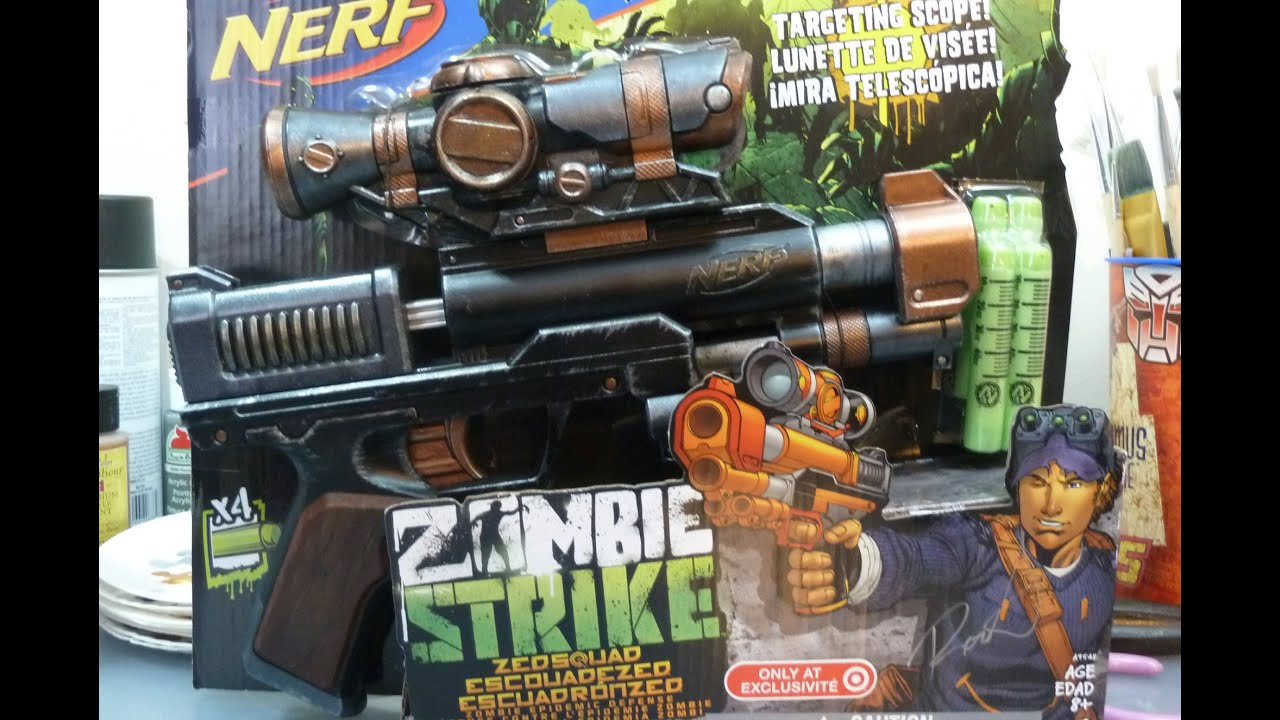 Rob A NERFtorials NERF Painting Tutorial Zombie Strike Clear Shot Part 2