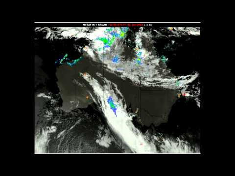 Australia - 2 Months' Loop Of Lightning, Radar And Satellite