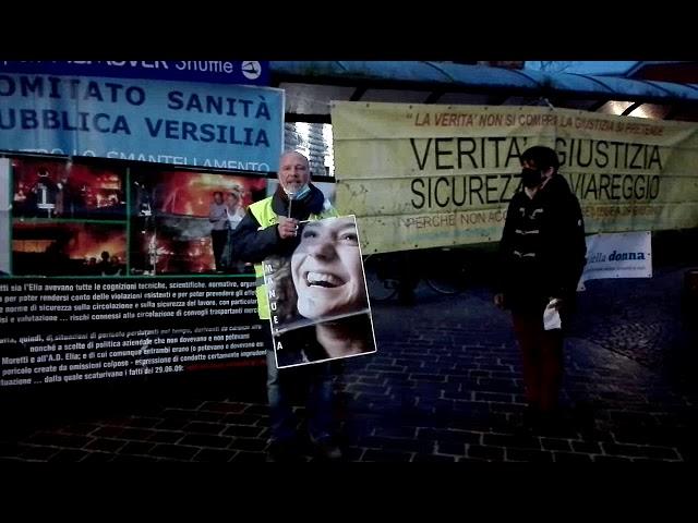 Verità e giustizia per Viareggio, presidio a Pisa 28 gennaio 2021. Intervento di Claudio Menichetti