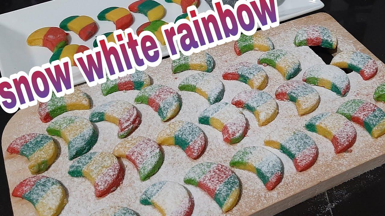Resep Kue Kering Terbaru 2021 Putri Salju Pelangi Snow White Rainbow Youtube