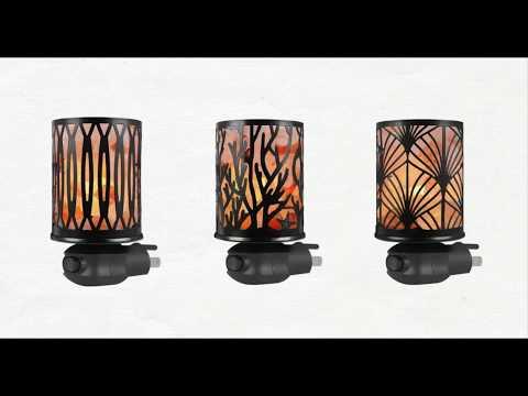 Syntus Himalayan Salt Lamp with Sculptured Iron Basket