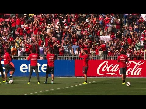 Chile supporters allowed to attend football team's open practice