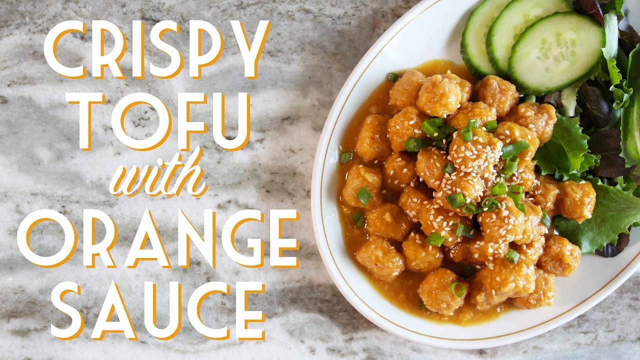 Crispy Orange Sauce Tofu Vegan Gluten Free Oven Baked Youtube