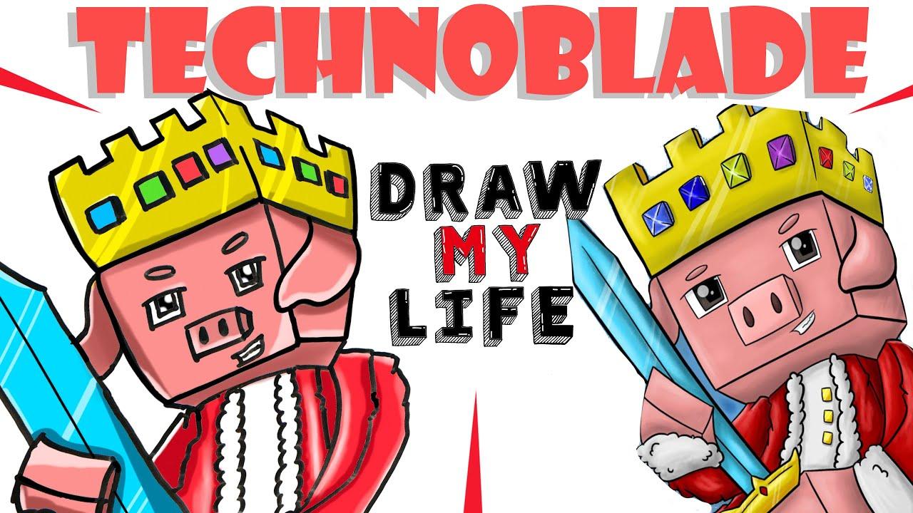 Draw My Life : Technoblade