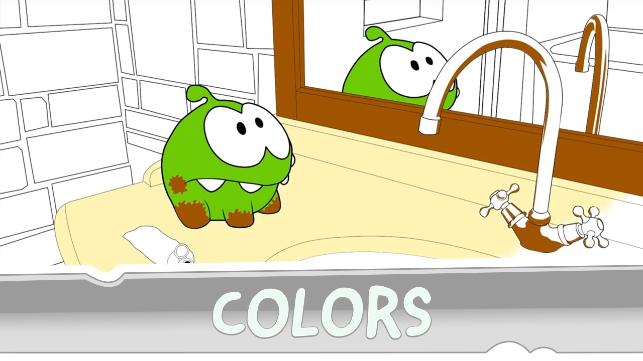 Learning Colors With Om Nom Coloring Book Youtube