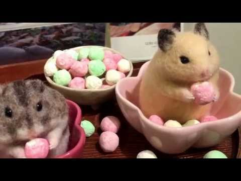 Cute Life-like Needle Felting Animals Birds Squirrels Rabbits Japanese Artists Tokyo Museum #1
