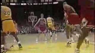 MAGIC is BACK!! Bulls @ Lakers 1996
