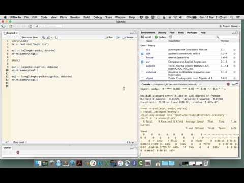 Tables of regressions for Word