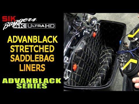 Advanblack Custom Saddlebag Liners for 14 up Stretched Saddlebags