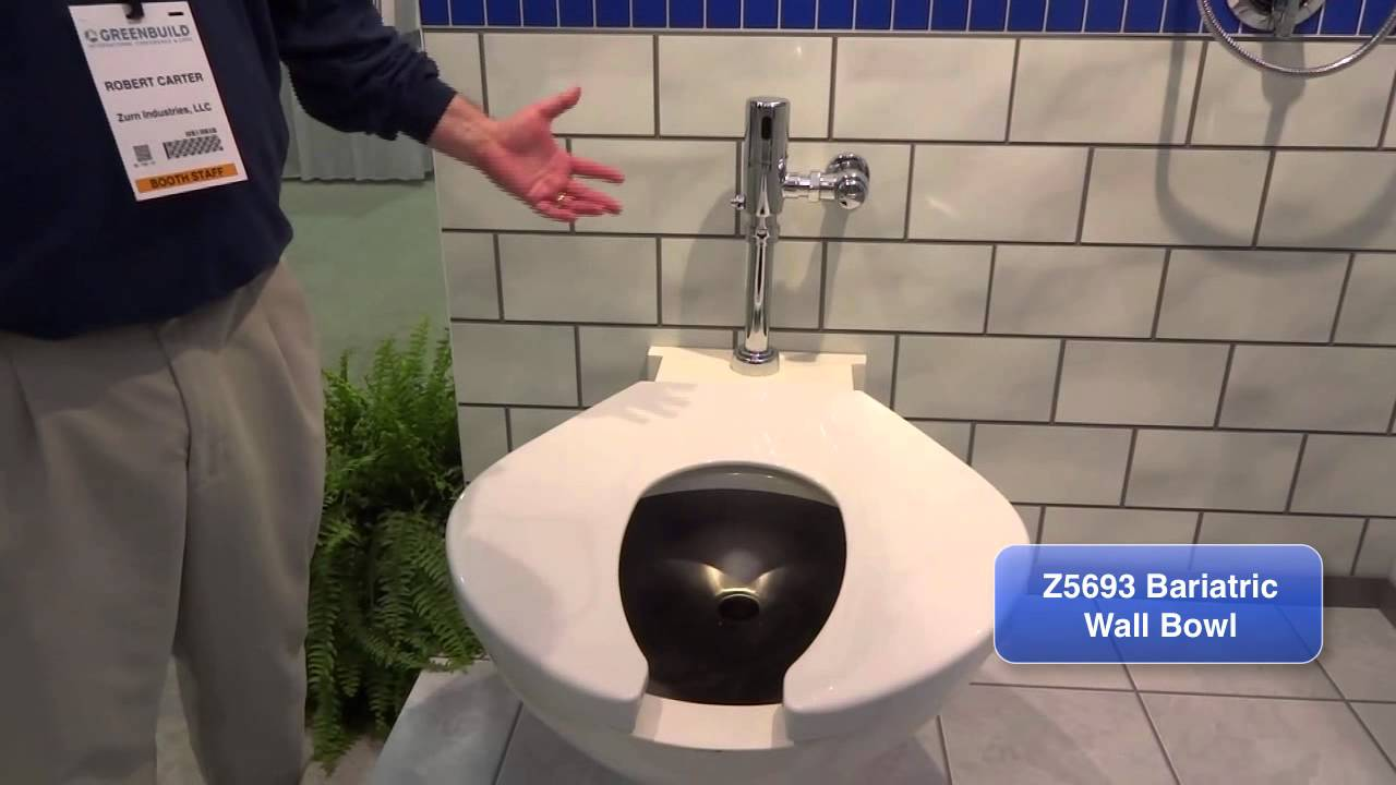 Zurn Toilets Z5693 Bariatric Wall Bowl With The Ztr6200ev Ll Youtube