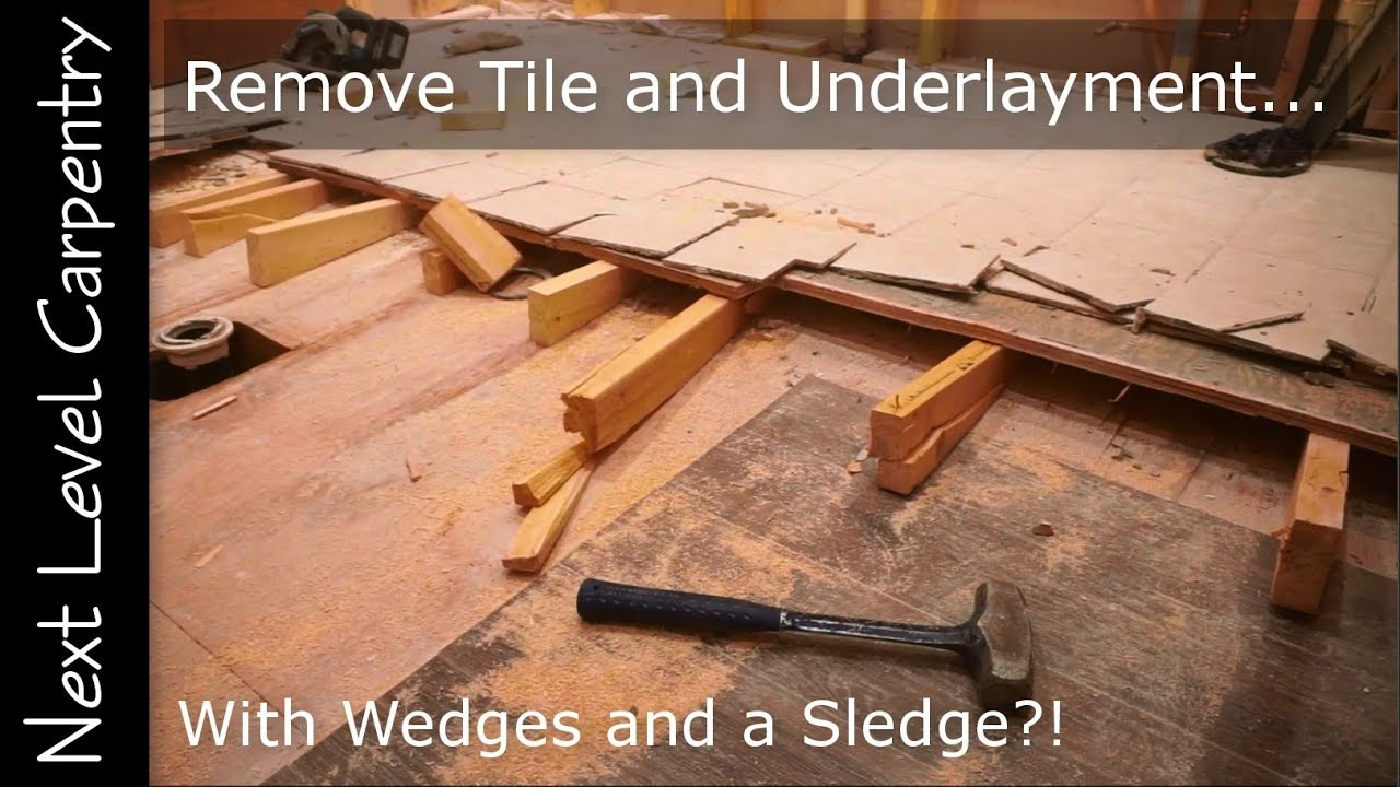 how to remove ceramic tile and underlayment the smart way