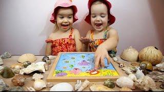 Сюрпризы. Настольная детская игра Магнитная рыбалка. Играем в рыбалку. Видео для детей.