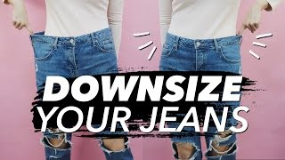One of withwendy's most viewed videos: How to Downsize Jeans (Resize Waist & Legs!) | WITHWENDY