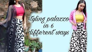 Styling printed palazzo pants in 6 different ways | palazzo pants | liza sarma